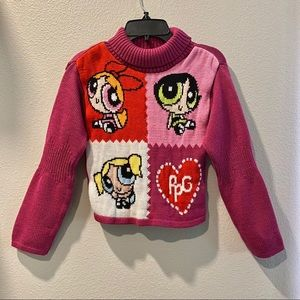 POWERPUFF GIRLS Turtleneck Sweater Pink